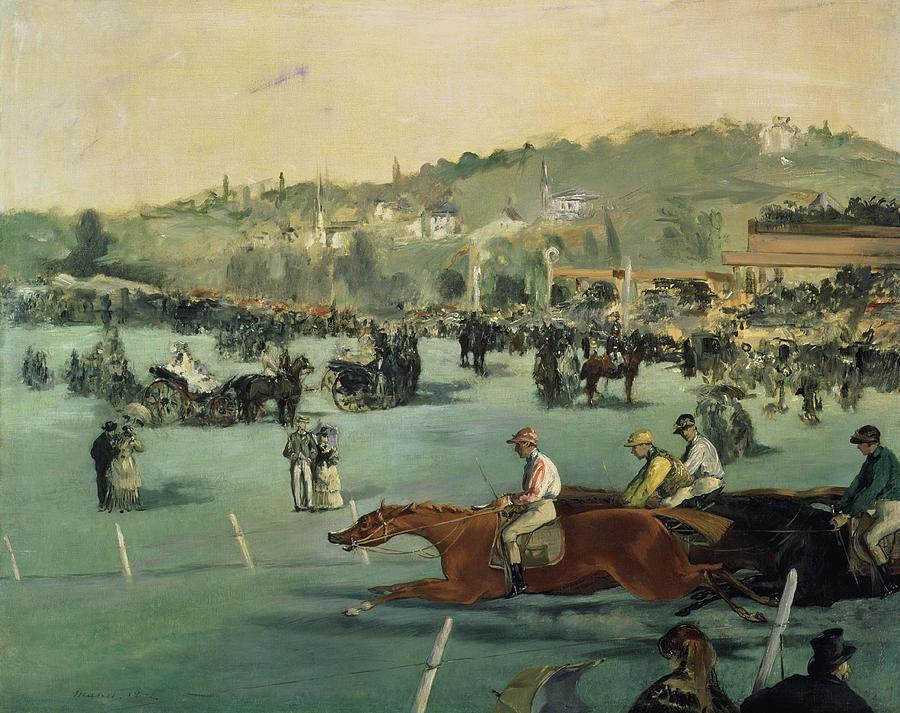 Edouard Manet - Paardenrennen in het Bois de Boulogne