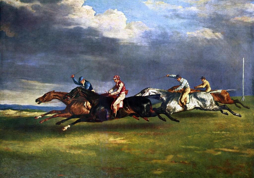 Theodore Géricault - Derby bij Epsom
